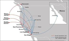 Alaska Flight Map by Alaska Japan Airlines To Launch Partnership Airways Magazine