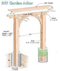 diy trellis arbor family handyman inspired garden arbor built by smart girls diy