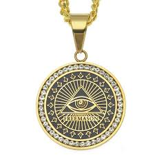 gold medallion necklace images Masonic cz medallion necklace the gold supply jpg