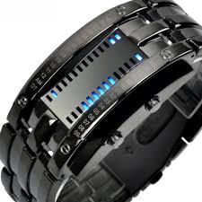 mens bracelet digital images Multi function men 39 s watch stainless steel band led digital watch jpg
