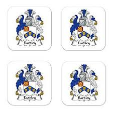 buy eardley family crest square coasters coat of arms coasters