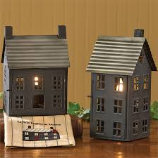 country rustic lighted house electric l lantern