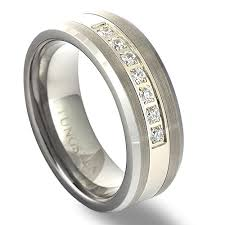 wedding band for tungsten carbide ring diamond mens wedding band