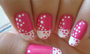 time to polka nail art design