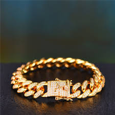 cuban chain bracelet images 12mm 14k gold iced out cuban chain and bracelet set aporro brand jpg
