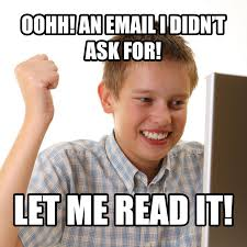 Internet Boy Meme - how to create a sustainable engaging email newsletter
