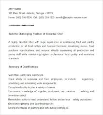 Resumes Com Samples by Chef Resume Template U2013 11 Free Samples Examples Psd Format