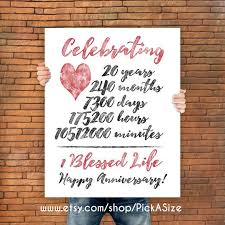 20 years anniversary gifts great 20 year wedding anniversary gifts b96 on pictures collection