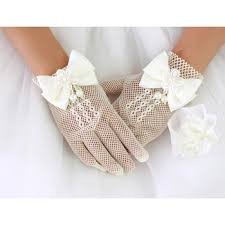 communion gloves beautiful wrist tulle flower girl communion gloves with