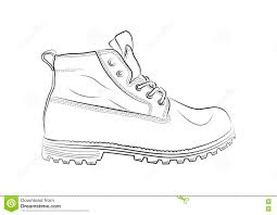 sketch of shoes on a white background stock vector image 79030544