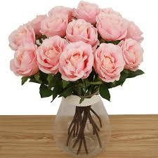 bringsine premium artificial flowers silk flowers artificial rose