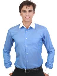 the wall street blue with contrasting white collar u0026 cuffs cotton