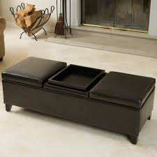 Coffee Table Storage by Grey Leather Ottoman Coffee Table Roselawnlutheran