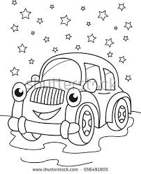coloring book cartoon funny car lorry stock vector 222416818