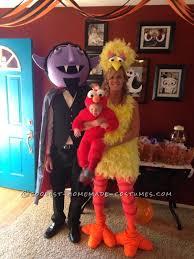Big Baby Halloween Costume Diy Count Big Bird Baby Elmo Family Halloween Costumes