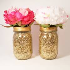 Gold And Pink Party Decorations 37 Cute Mason Jar Baby Shower Ideas Table Decorating Ideas
