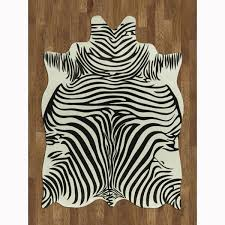 Zebra Kitchen Rug Area Rug Best Modern Rugs Braided Rug In Faux Zebra Rug