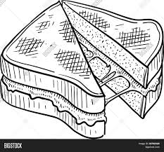 grilled cheese sandwich sketch stock vector u0026 stock photos bigstock
