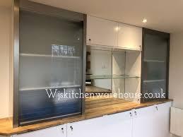 frosted glass kitchen cabinet doors uk wjskitchenwarehouse tambour door kits quasar glass