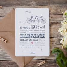 wedding invitations liverpool bicycle made for two wedding stationery by wedding in a teacup