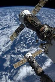 the body of a russian rocket that propelled a soyuz spacecraft