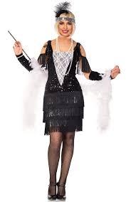 1920 Halloween Costumes Women U0027s Sequined Flapper Costume Gatsby Black Flapper Costume