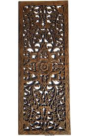 thailand home decor wholesale floral wood carved wall panel wood wall decor for sale asiana