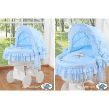 Wicker Crib Bedding Crib Blue Bedding Set