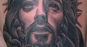 jesus chest piece tattoos religious praying hands chest piece