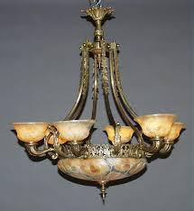 Alabaster Lighting Chandeliers Alabaster Antique Bronze Chandelier