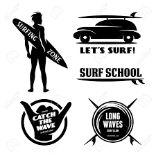 surf car surfing related labels set catch the wave quotes about surfing
