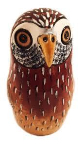 maisha jakaranda wood owl fair trade sustainable home decor