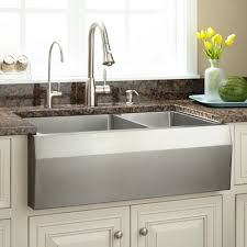 Industrial Kitchen Sink Other Kitchen Optimum Stainless Steel Angled Farmhouse Sink