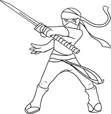 kid drawing of a ninja coloring page kid drawing of a ninja