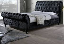 Fabric Sleigh Bed Fabric Diamante Sleigh Bed Beds Glasgow
