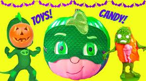 halloween pumpkins cartoons pj masks gekko halloween pumpkin romeo tricks gekko toy