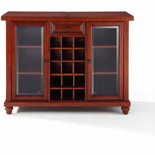 Bar Hutch Crosley Furniture Cambridge Sliding Top Bar Cabinet Walmart Com
