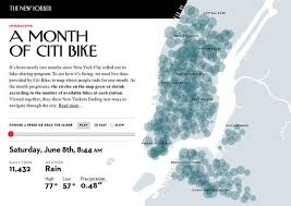 mapping a month of bike sharing in new york city treehugger