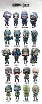 siege https rainbow six siege operator chibis arman akopian on artstation at