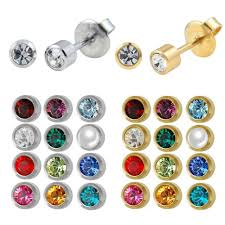ear piercing studs aliexpress buy 12pairs fashion silver gold birthstone ear