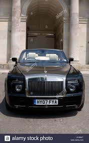roll royce phantom drophead coupe rolls royce rr phantom drophead coupe black stock photo royalty