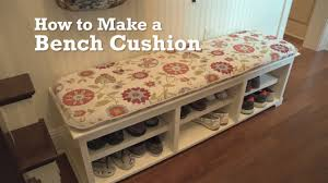How To Cover Patio Cushions by How To Make A Bench Cushion Youtube