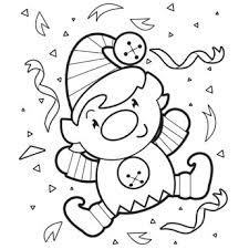 happy elf coloring page free christmas recipes coloring pages