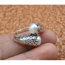 double pearl rings images Sterling silver double pearl ring ri 723 jpg