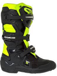 cruiser motorcycle boots alpinestars black fluorescent yellow tech seven s kids mx boot