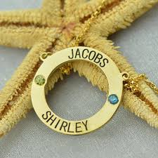 gold personalized name necklaces personalized karma necklace circle name necklace with birthstones
