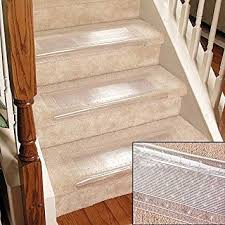 Rug For Stairs Steps Clear Stair Treads Carpet Protectors Set Of 2 Staircase Step