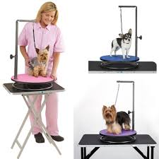 dog hair cutting table emperor grooming tables emperor lazy susan small dog grooming table