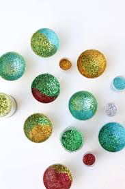 diy glitter ornaments for the holidays momtastic