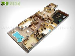 modern floor plans 3d modern floor plan design seoul mixed media by rachana desai